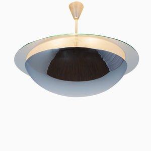 Lampe à Suspension en Miroir, en Verre et en Métal, 1960s