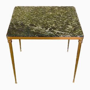 Mid-Century Italian Marble & Brass Side Table