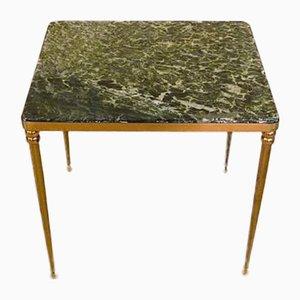Tavolino Mid-Century in marmo e ottone, Italia