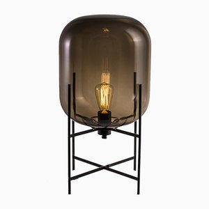 Oda Small Table Lamp in Black by Sebastian Herkner for Pulpo