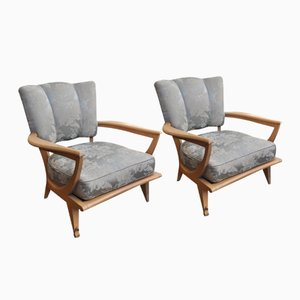 French SK250 Armchairs by Etienne Henri Martin for Steiner, 1937, Set of 2