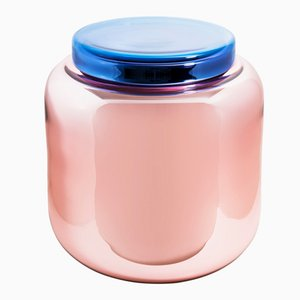 Container Table in Dusty Pink and Blue by Sebastian Herkner for Pulpo