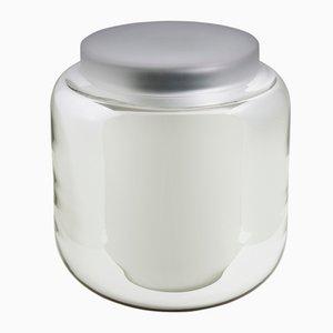 Tavolo a forma di recipiente bianco e trasparente di Sebastian Herkner per Pulpo