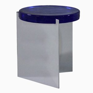 Alwa in argento con superficie in vetro blu di Sebastian Herkner per Pulpo