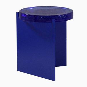 Alwa nero con superficie in vetro blu di Sebastian Herkner per Pulpo