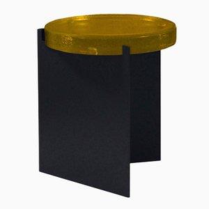 Alwa nero con superficie in vetro giallo di Sebastian Herkner per Pulpo