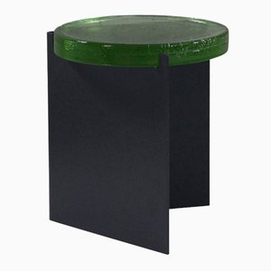 Alwa nero con superficie in vetro verde di Sebastian Herkner per Pulpo