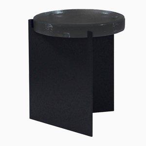 Alwa en negro con una superficie de cristal ahumado de Sebastian Herkner para Pulpo