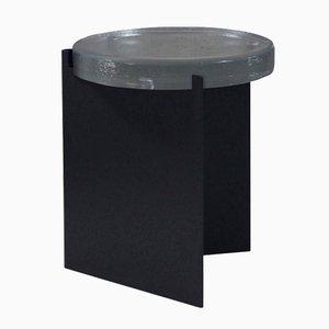 Alwa nero con superficie in vetro trasparente di Sebastian Herkner per Pulpo