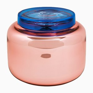 Container Low in Dusty Pink and Blue by Sebastian Herkner for Pulpo