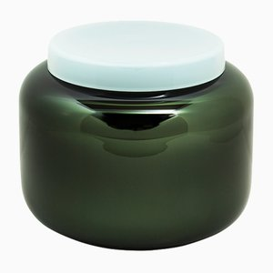 Container Low in Black and Celadon Green