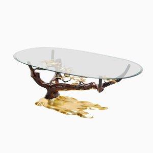 Tavolino da caffè con base a forma di bonsai, Belgio, 1970