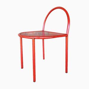 Sedia industriale vintage rossa