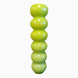 Italian Acid Green Glazed Earthernware Vase, 1980s