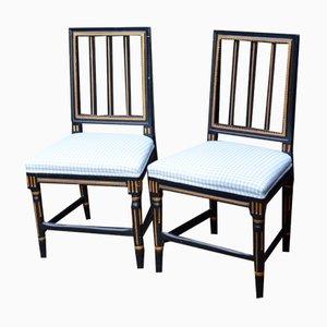 Schwedische Stühle im Klassizistischen Stil, 1900er, 2er Set