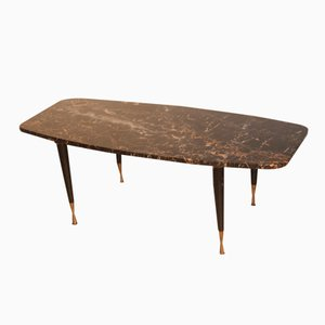 Italian Marble & Brass Coffee Table, 1950