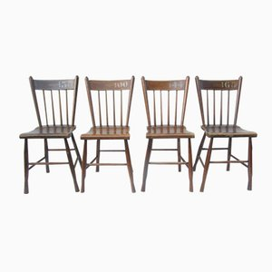 Vintage Dutch Farm House Chairs, Set of 4