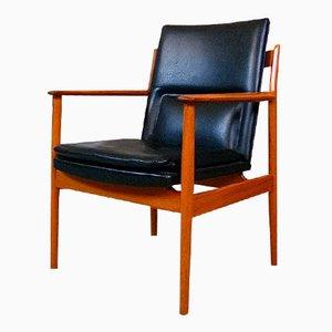 Dänischer Teak 341 Armlehnstuhl von Arne Vodder für Sibast, 1960er