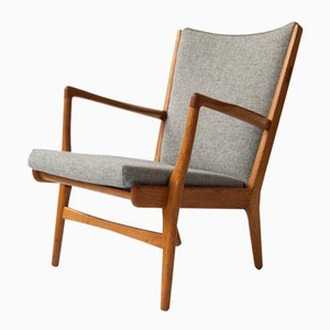 Danish AP-16 Oak Lounge Chair by Hans J. Wegner for A.P. Stolen, 1950s