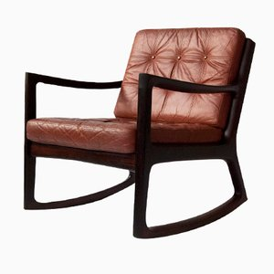 Danish Senator Rosewood Rocking Chair by Ole Wanscher for Cado, 1960s