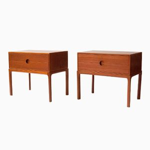 Danish Teak Bedside Cabinets by Aksel Kjersgaard, 1950s, Set of 2