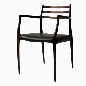 Danish Solid Rosewood Model 62 Armchair by Niels O. Moller for J.L Moller Mobelfabrik, 1960s