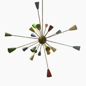 Italian Multicolored Sputnik Lamp, 1950s