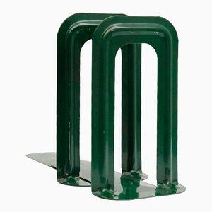 Sujetalibros franceses de botella verde de Bernard-Albin Gras paraGras Ravel, 1905. Juego de 2