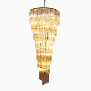 Mid-Century Modern Italian Spiral Chandelier from Venini, 1950s