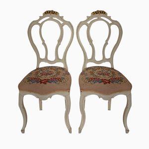 Antique Swedish Rococo Chairs, Set of 2