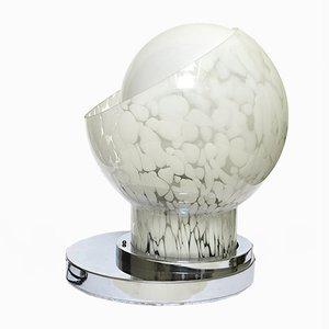 Vintage Tischlampe aus Mundgeblasenem Glas