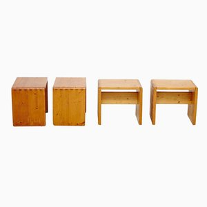 Les Arcs Hocker von Charlotte Perriand, 1960er, 4er Set