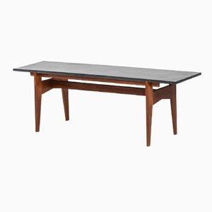 Table Basse en Teck et en Granit Noir de Hans-Agne Jakobsson, Suède, 1960s