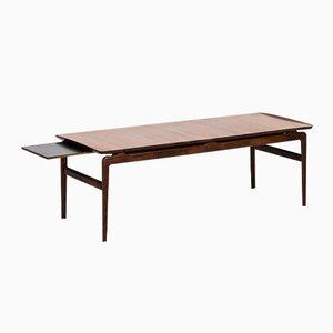 Tavolino da caffè in palissandro e formica nera di Peter Hvidt & Orla Mølgaard-Nielsen per France & Son, Danimarca, 1957