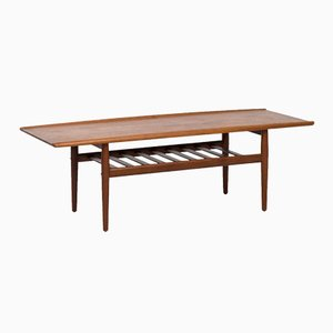 Danish Teak Coffee Table by Grete Jalk for Glostrup Møbelfabrik, 1950s