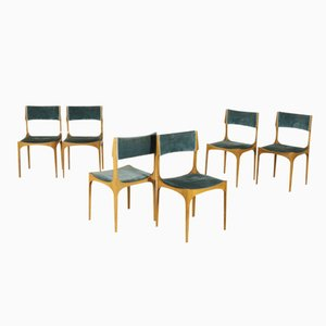 Dining Chairs by Giuseppe Gibelli, 1960s, Set of 6