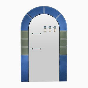 Grand Miroir d'Entrée en Pied avec Porte-Manteaux, Italie, 1950s