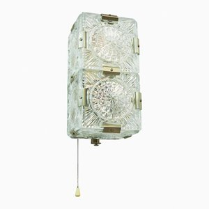 Mid-Century Wandlampe aus Pressglas, 1960er