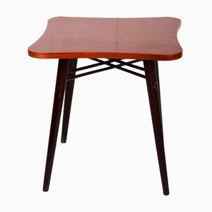 Tavolino in noce e laccato, anni '70