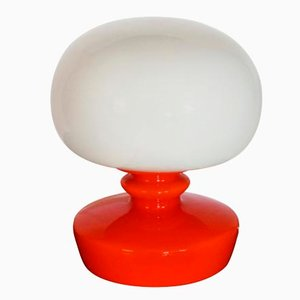Mid-Century Glass Table Lamp, 1970s