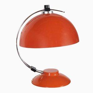 Orangefarbene Mid-Century Tischlampe, 1970er
