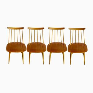 Swedish Fanett Chairs by Imari Tapiovaara for Edsbyverken, 1961, Set of 4