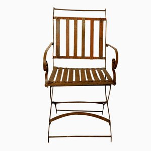Vintage Riveted Folding Garden Chair