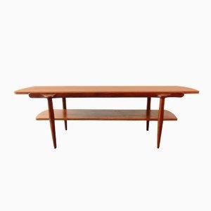 Teak Couchtisch mit Doppelseitiger Tischplatte, 1960er
