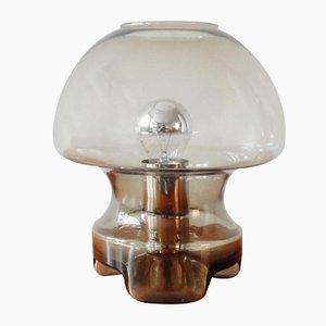 Lámpara de mesa vintage de cristal ahumado