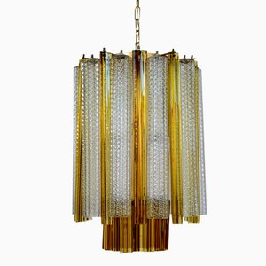Tronchi & Trilobi Murano Glass Chandelier from Venini, 1960s