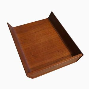 Mid-Century Bugholz Tablett von Florence Knoll für Knoll