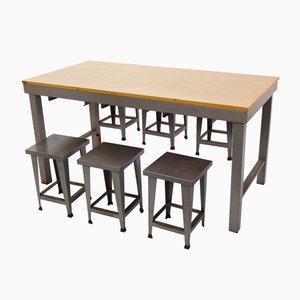 Vintage Tisch mit Hockern im Industriellen Stil