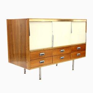 Mueble de mercería vintage de palisandro