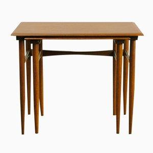 Tables Gigognes en Teck par Poul Hundevad pour Fabian, Danemark, 1960s, Set de 2